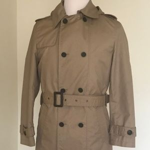 Zara Man double breasted trench coat Size L